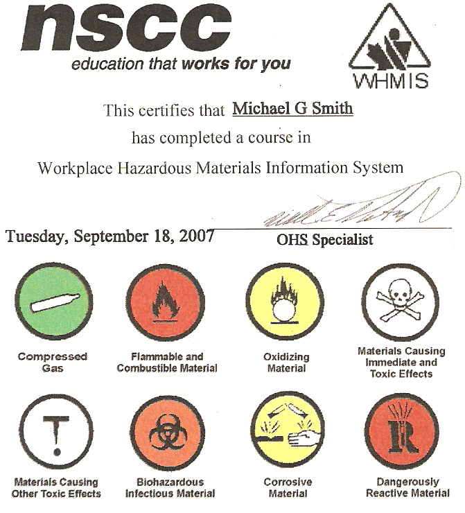 workplace hazardous material information system Information on workplace hazardous materials information system (whmis)in saskatchewan to help reduce the risk of injuries and illnesses caused by chemical and biological substances.